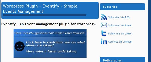 Eventify for WordPress