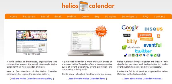 Helios Event Calendar for WordPress