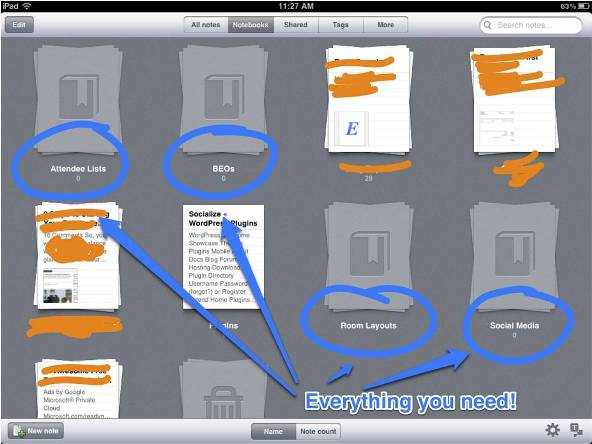 Event Planners need Evernote
