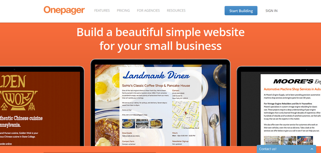One Page Conference Website