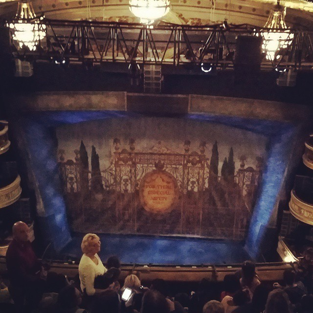View from the nosebleed seats.. the Royal Drury production of Charlie and the Chocolate Factory. Awesome...